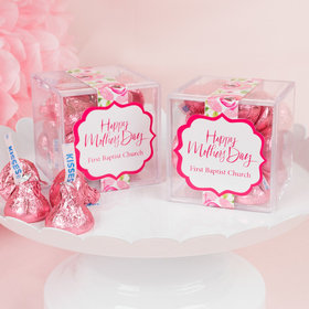 Personalized Mother's Day JUST CANDY® favor cube with Hershey's Kisses