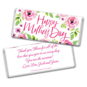 Personalized Bonnie Marcus Mother's Day Pink Floral Chocolate Bar
