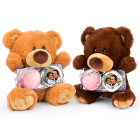 Personalized Mother's Day Floral Photo Teddy Bear with Chocolate Covered Oreo 2pk
