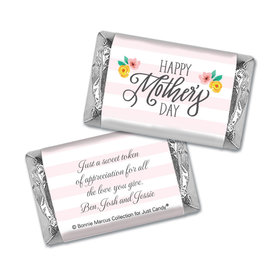 Personalized Bonnie Marcus Mother's Day Floral Embrace Hershey's Miniatures Wrappers