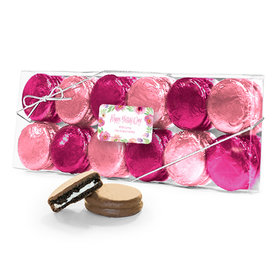 Bonnie Marcus Collection Personalized Floral Embrace Mother's Day 12PK Chocolate Covered Oreo Cookies