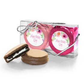 Bonnie Marcus Collection Floral Embrace Mother's Day 2PK Chocolate Covered Oreo Cookies