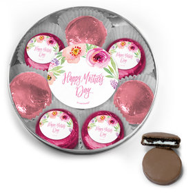 Bonnie Marcus Collection Mother's Day Chocolate Covered Oreo Cookies Large Silver Plastic Tin