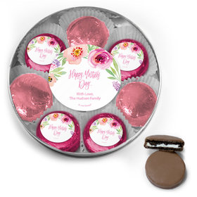 Personalized Bonnie Marcus Collection Mother's Day Chocolate Covered Oreo Cookies Large Silver Plastic Tin
