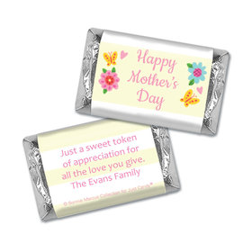 Personalized Bonnie Marcus Collection Mother's Day Spring Flowers Hershey's Miniatures Wrappers