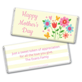 Personalized Bonnie Marcus Collection Mother's Day Spring Flowers Chocolate Bar