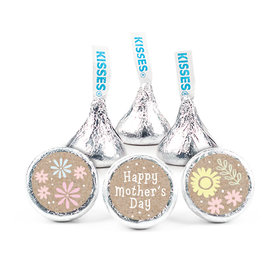 """Mother's Day Pastel Flowers Theme 3/4"""" Sticker (108 Stickers)"""