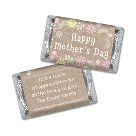 Personalized Bonnie Marcus Collection Mother's Day Pastel Flowers Hershey's Miniatures Wrappers