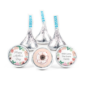 Personalized Bonnie Marcus Mother's Day Painted Flowers Hershey's Kisses (50 pack)