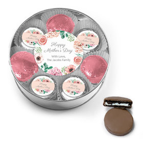 Personalized Bonnie Marcus Collection Mother's Day Chocolate Covered Oreo Cookies XL Silver Plastic Tin