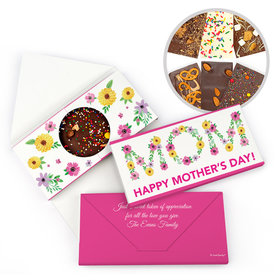 Personalized Floral Bonnie Marcus Mother's Day Gourmet Infused Belgian Chocolate Bars (3.5oz)