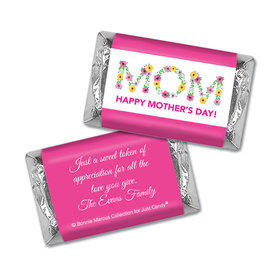 Personalized Bonnie Marcus Mother's Day Flowers Hershey's Miniatures Wrappers