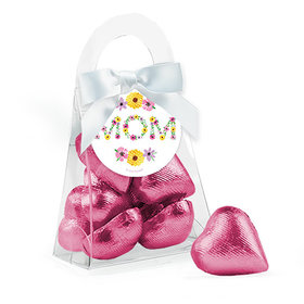 Bonnie Marcus Mother's Day Floral Mom Chocolate Hearts Purse and Gift Tag