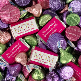 Bonnie Marcus Mother's Day Mix Hershey's Miniatures, Kisses and JC Peanut Butter Cups