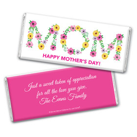 Personalized Bonnie Marcus Mother's Day Mom in Flowers Chocolate Bar