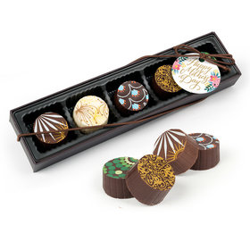 Bonnie Marcus Mother's Day Floral Gourmet Belgian Chocolate Truffle Gift Box (5 Truffles)