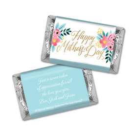 Personalized Bonnie Marcus Mother's Day Floral Hershey's Miniatures Wrappers