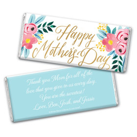 Personalized Bonnie Marcus Mother's Day Floral Chocolate Bar