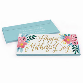 Deluxe Personalized Floral Mother's Day Chocolate Bar in Gift Box