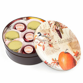 Thanksgiving Giving Thanks Tin with 16 Chocolate Covered Oreo Cookies