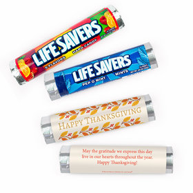 Personalized Bonnie Marcus Thanksgiving Giving Thanks Lifesavers Rolls (20 Rolls)