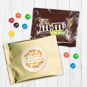 Personalized Thanksgiving Giving Thanks - Milk Chocolate M&Ms