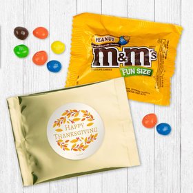 Personalized Thanksgiving Giving Thanks - Peanut M&Ms