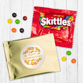 Personalized Thanksgiving Giving Thanks - Skittles