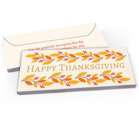 Deluxe Personalized Bonnie Marcus Giving Thanks Thanksgiving Candy Bar Favor Box