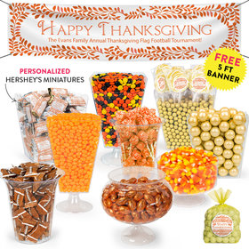 Personalized Thanksgiving Leaves Deluxe Candy Buffet