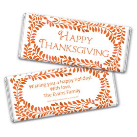 Personalized Bonnie Marcus Leaves Thanksgiving Chocolate Bar Wrappers Only