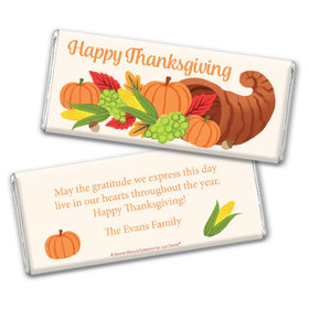 Personalized Bonnie Marcus Cornucopia Thanksgiving Chocolate Bar & Wrapper