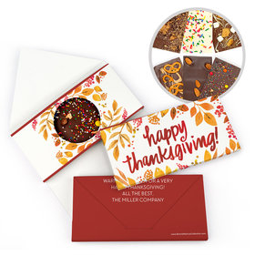 Personalized Bonnie Marcus Thanksgiving Fall Foliage Gourmet Infused Belgian Chocolate Bars (3.5oz)