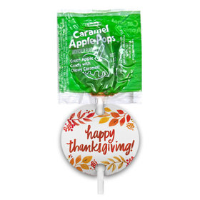 Thanksgiving Fall Foliage Caramel Apple Pops with Gift Tags (48 pops)