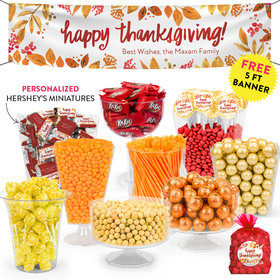 Personalized Thanksgiving Fall Foliage Deluxe Candy Buffet