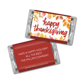 Personalized Bonnie Marcus Fall Foliage Thanksgiving Mini Wrappers Only