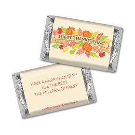 Personalized Bonnie Marcus Happy Harvest Thanksgiving Hershey's Miniatures