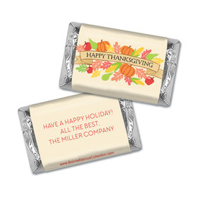 Personalized Bonnie Marcus Happy Harvest Thanksgiving Mini Wrappers Only
