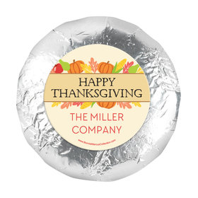 "Personalized Bonnie Marcus Happy Harvest Thanksgiving 1.25"" Stickers (48 Stickers)"
