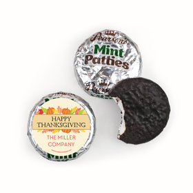 Personalized Bonnie Marcus Happy Harvest Thanksgiving Pearson's Mint Patties