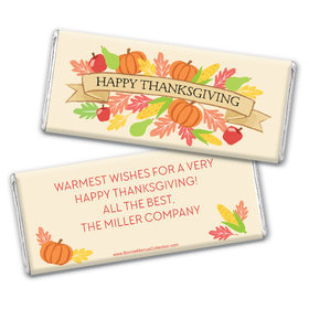 Personalized Bonnie Marcus Happy Harvest Thanksgiving Chocolate Bar & Wrapper