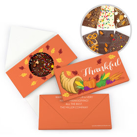 Personalized Bonnie Marcus Thanksgiving Bountiful Thanks Gourmet Infused Belgian Chocolate Bars (3.5oz)