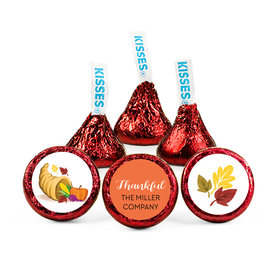 Personalized Bonnie Marcus Thanksgiving Bountiful Thanks Hershey's Kisses (50 pack)
