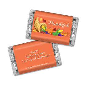 Personalized Bonnie Marcus Bountiful Thanks Thanksgiving Hershey's Miniatures