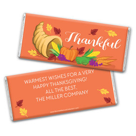 Personalized Bonnie Marcus Bountiful Thanks Thanksgiving Chocolate Bar Wrappers