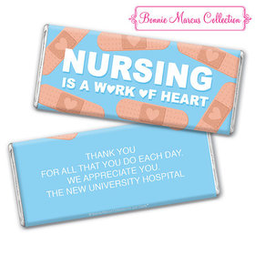 Personalized Bonnie Marcus Collection Nurse Appreciation Hearts Chocolate Bar & Wrapper