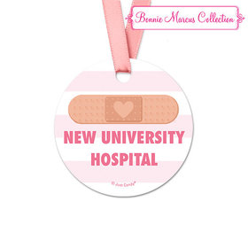 Personalized Bonnie Marcus Collection Stripes Nurse Appreciation Round Favor Gift Tags (20 Pack)