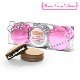 Bonnie Marcus Collection Stripes Nurse Appreciation 3PK Chocolate Covered Oreo Cookies