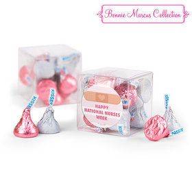 Bonnie Marcus Collection Stripes Nurse Appreciation Clear Gift Box with Sticker