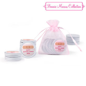 Bonnie Marcus Collection Nurse Appreication Stripes Extra Small Organza Bag of Chocolate Coins